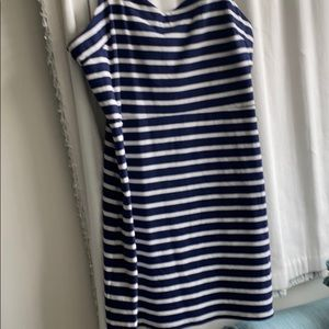 NWOT  Navy & white striped Old navy dress XXL